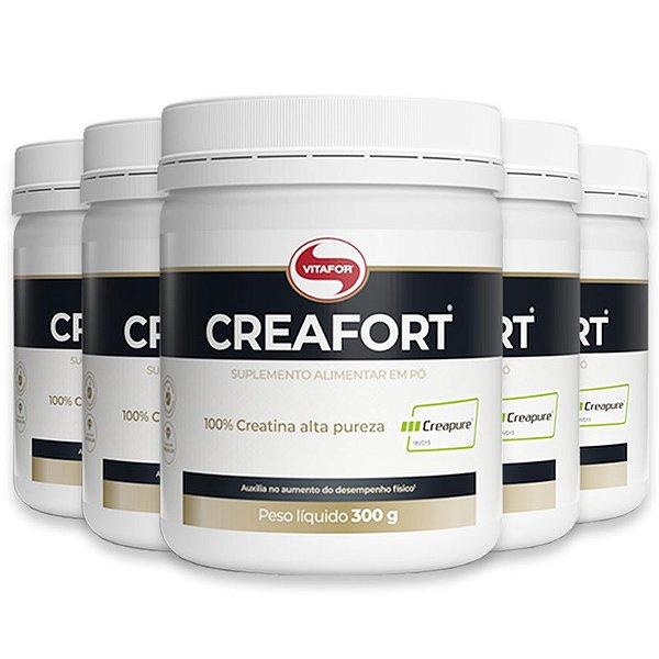 Kit 5 Creatina Creafort Vitafor pote 300g