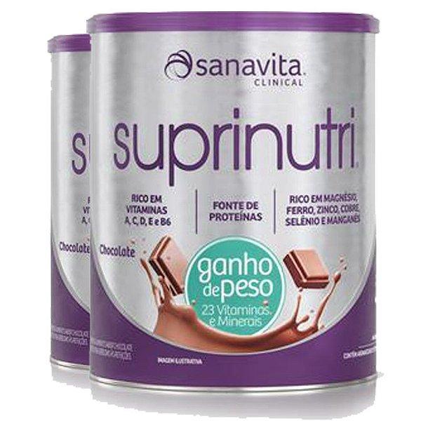 Kit 2 Suprinutri ganho de peso Sanavita chocolate 400G