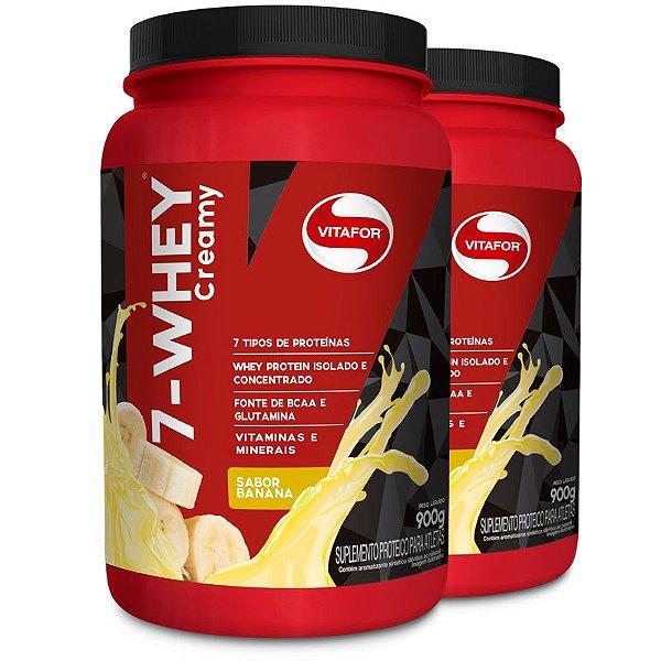 Kit 2 Whey protein 7-Whey Vitafor banana 900g