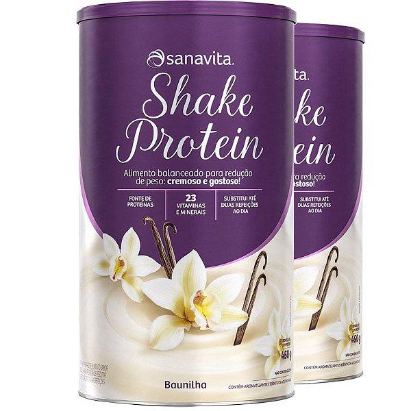 Kit 2 Shake Substituto de refeição Sanavita 450g Vanilla