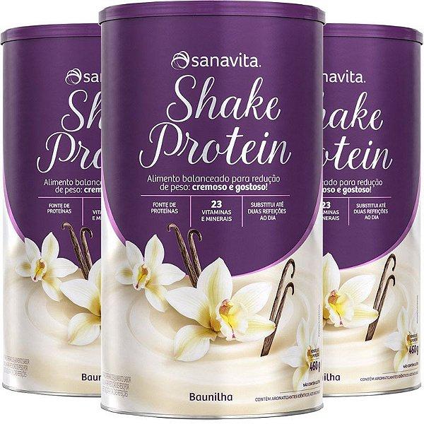 Kit 3 Shake Substituto de refeição Sanavita 450g Vanilla