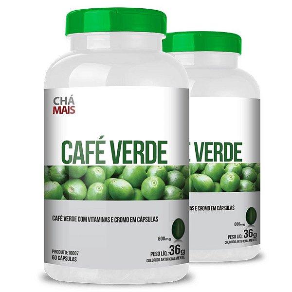 Kit 2 Café Verde com Vitamina C Chá mais 60 cápsulas