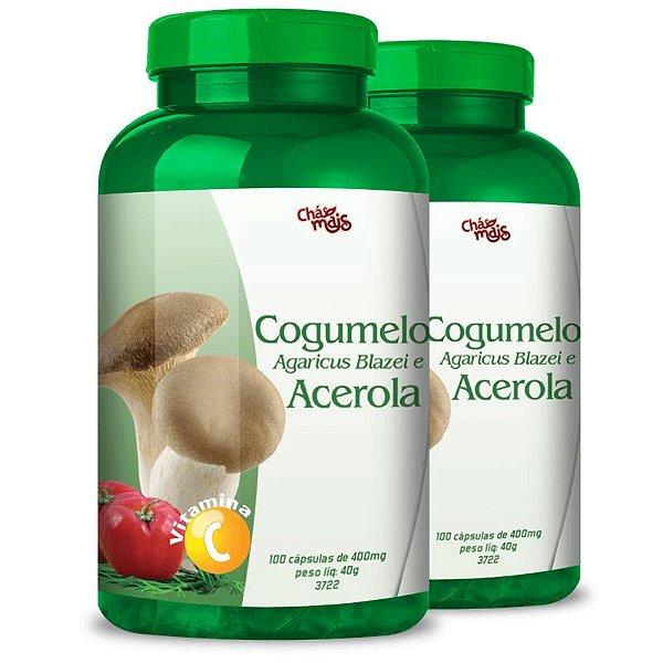 Kit 2 Cogumelo Agaricus Blazei + Acerola Chá mais 100 cápsulas