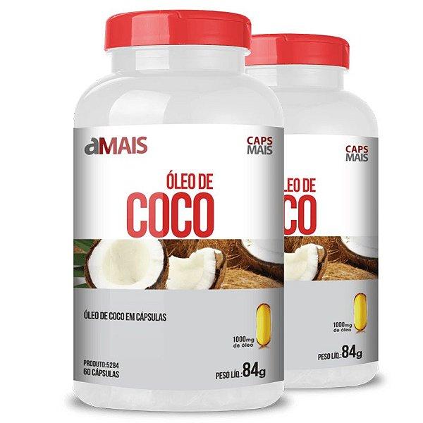 Kit 2 Óleo de coco extra virgem 1000mg Chá Mais 60 cápsulas