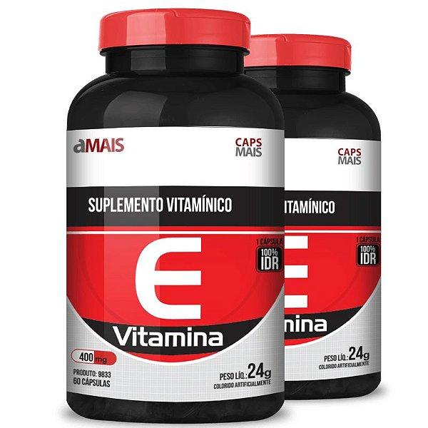 Kit 2 Vitamina E 400mg Chá mais 60 cápsulas