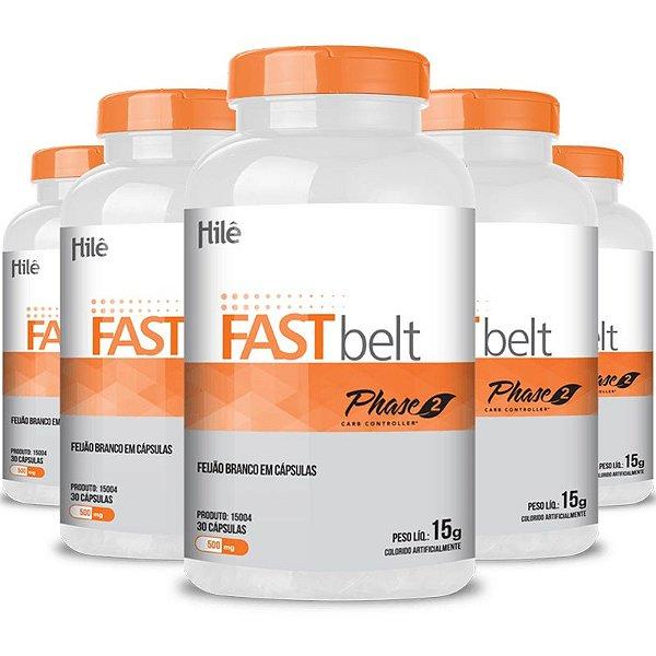 Kit 5 Fasbelt fibras emagrecedoras 500mg Chá mais 30 cápsulas