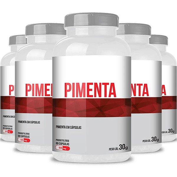 Kit 5 Pimenta 500mg Chá mais 60 cápsulas