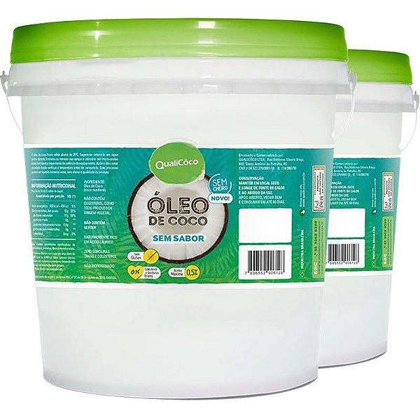Kit 2 Óleo de Coco Sem Sabor Qualicoco 3 litros virgem