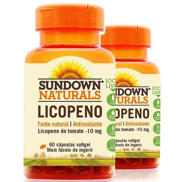 Kit 2 Licopeno 10mg Lycopene Sundown 60 cápsulas