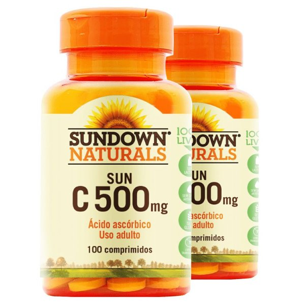 Kit 2 Vitamina C 500mg Sundown 100 Tablets