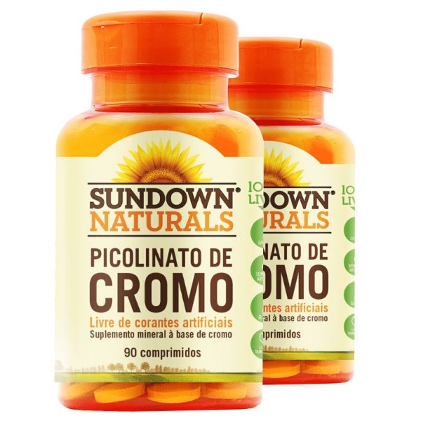 Kit - 2 Picolinato de cromo Sundown 90 Comprimidos