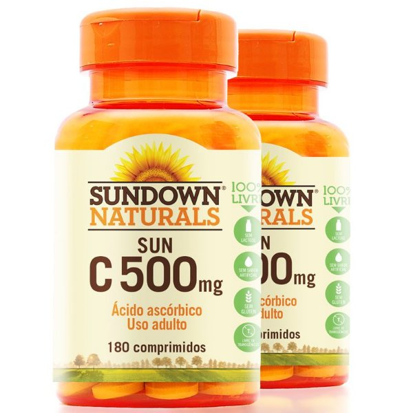 Kit 2 Vitamina C 500mg Sundown 180 Tablets