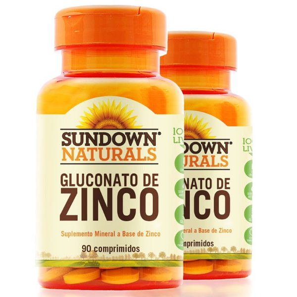Kit 2 Zinco 7mg Sundown 90 comprimidos