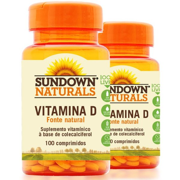 Kit - 2 Vitamina D3 Sundown 100 Comprimidos