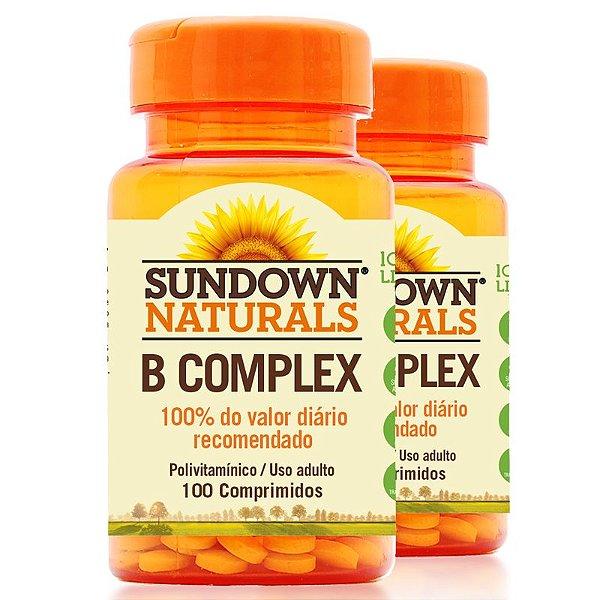 Kit 2 Complexo B Sundown 100 Comprimidos