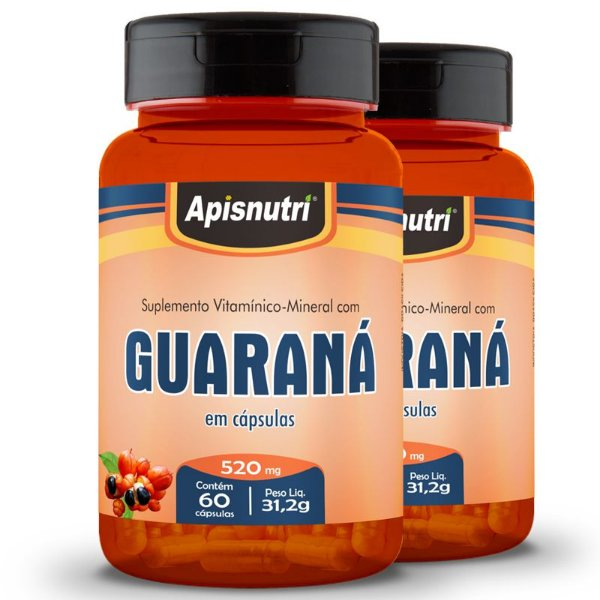 Kit 2 Guaraná Apisnutri 60 cápsulas