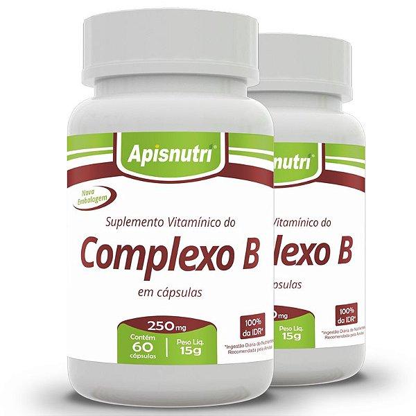 Kit 2 Complexo B Apisnutri 60 cápsulas