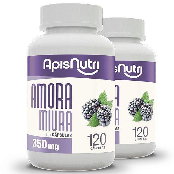Kit 2 Amora Miura Apisnutri 350mg 120 cápsulas