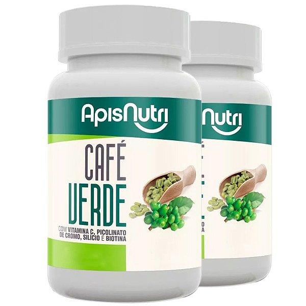 Kit 2 Café Verde 500mg Apisnutri 120 cápsulas