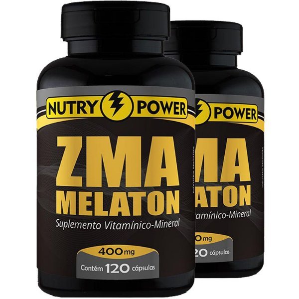 Kit 2 Repositor muscular ZMA Nutry Power 120 cápsulas