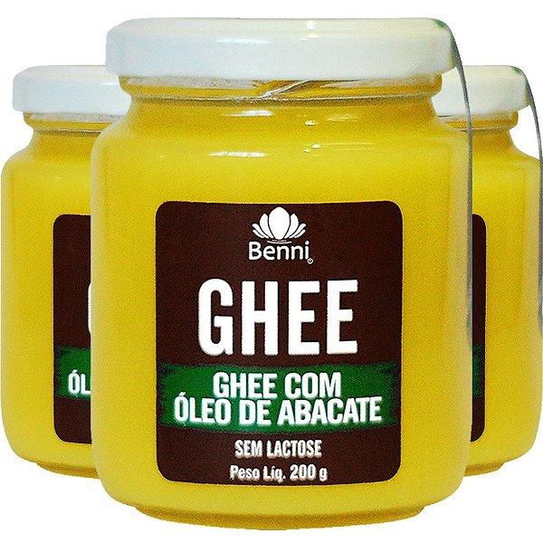 Kit 3 Manteiga GHEE com Óleo de Abacate 200g Benni
