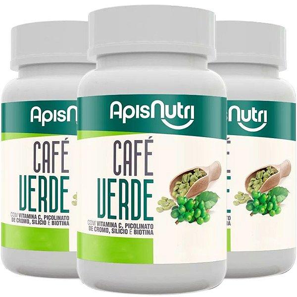 Kit 3 Café Verde 500mg Apisnutri 120 cápsulas