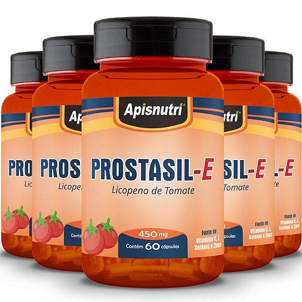 Kit 5 Prostasil-E Licopeno Apisnutri 60 cápsulas