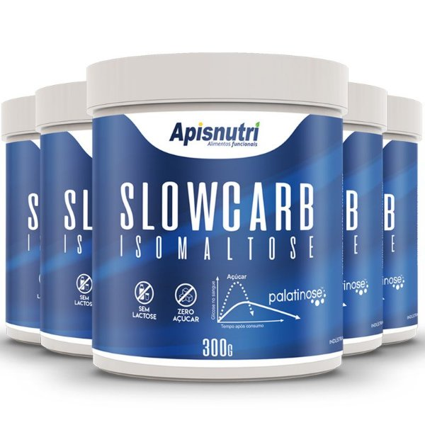 Kit 5 Slowcarb isomaltose palatinose Apisnutri 300g