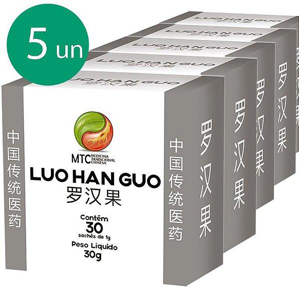 Kit 5 Monk Fruit MCT Luo Han Guo Vitafor 30 sachês
