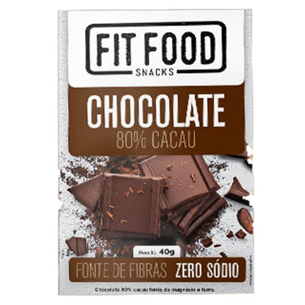 Chocolate 80% Cacau Fit Food
