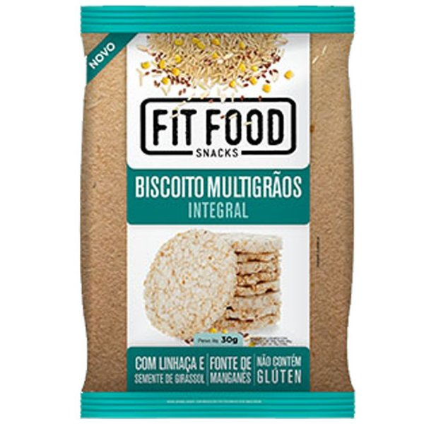 Biscoito de Arroz Multigrãos 30g Fit food