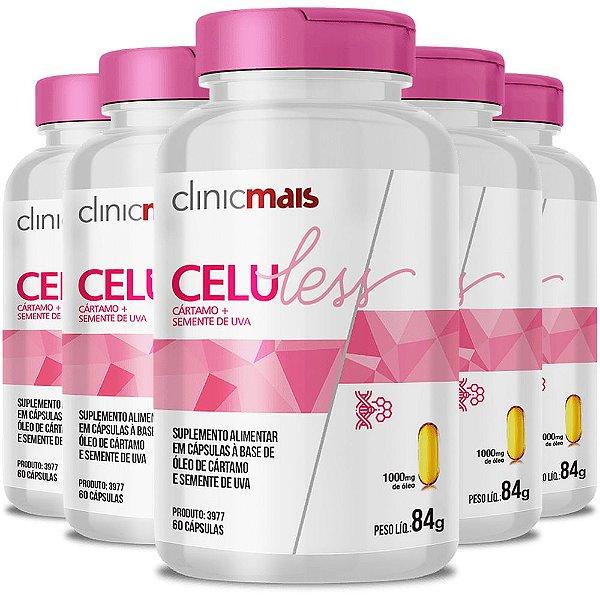 Kit 5 Celuless Cártamo e Semente de Uva 60 cápsulas Clinicmais