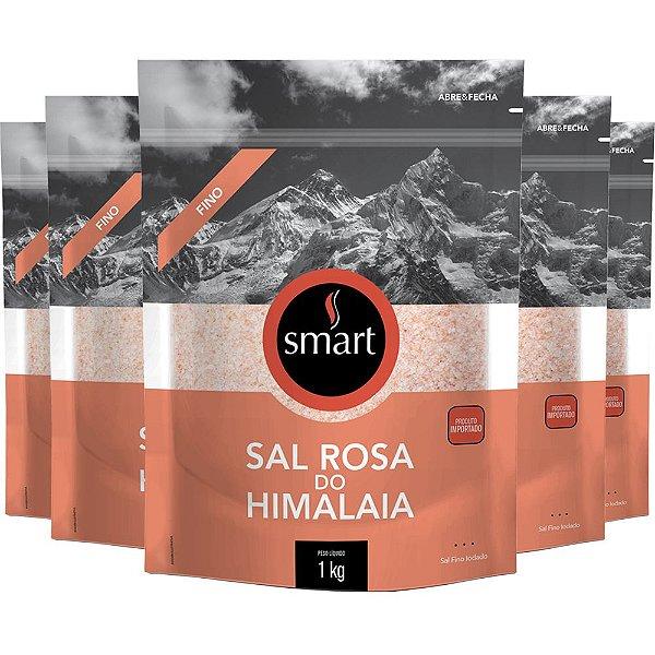 Kit 5 Sal Rosa do himalaia fino SMART 1KG