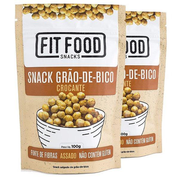 Kit 2 Snack Grão de Bico Levemente Salgado Fit Food 100g