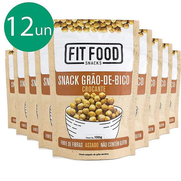 Kit 12 Snack Grão de Bico Levemente Salgado Fit Food 100g