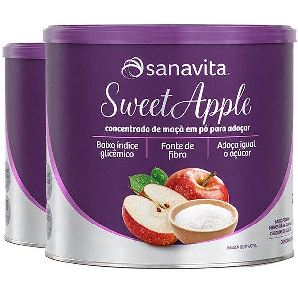Kit 2 SWEETAPPLE Adoçante natural a base de maçã da Sanavita 250g