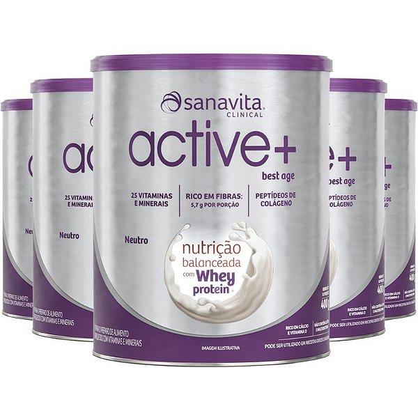 Kit 5 ACTIVE+ Best Age Neutro 400g Sanavita