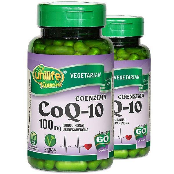 Kit 2 Coenzima CoQ-10 60 cápsulas Unilife