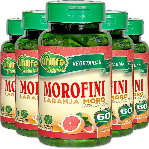 Kit 5 Morofini Laranja Moro Unilife 60 cápsulas