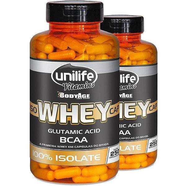 Kit 2 Whey Protein Isolado 250 capsulas Unilife