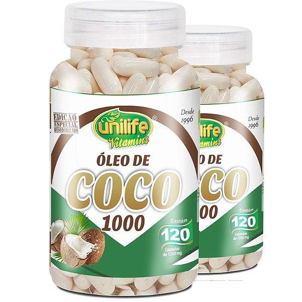 Kit 2 Óleo de Coco Unilife 120 Cápsulas
