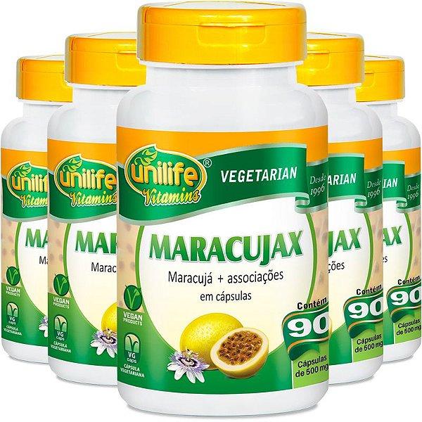 Kit 5 Maracujax Unilife 90 Cápsulas