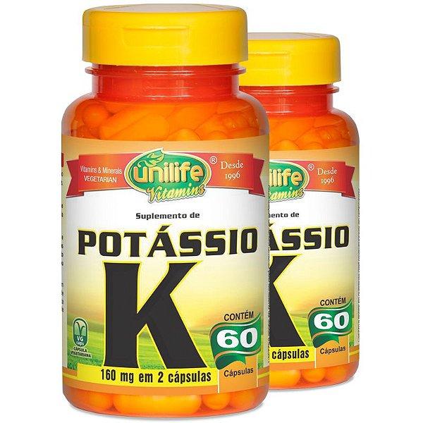 Kit 2 Potássio Quelato 60 cápsulas Unilife