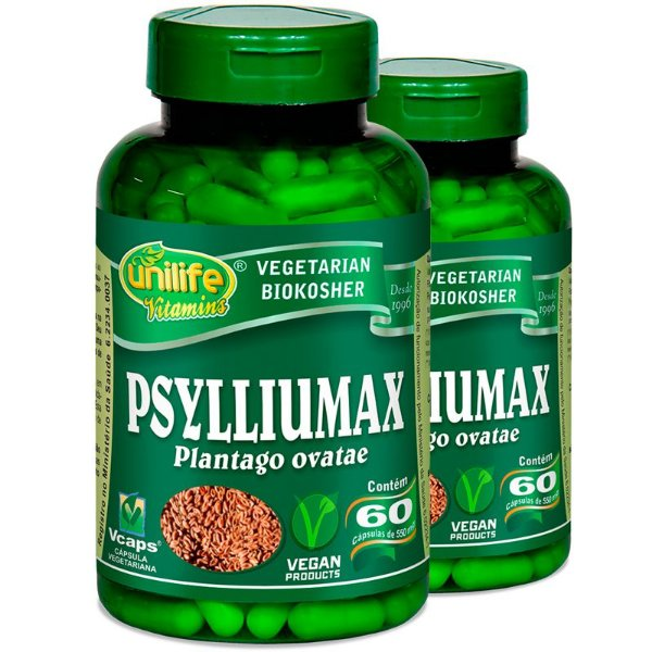 Kit 2 Psyllium 60 Cápsulas Psylliumax Unilife