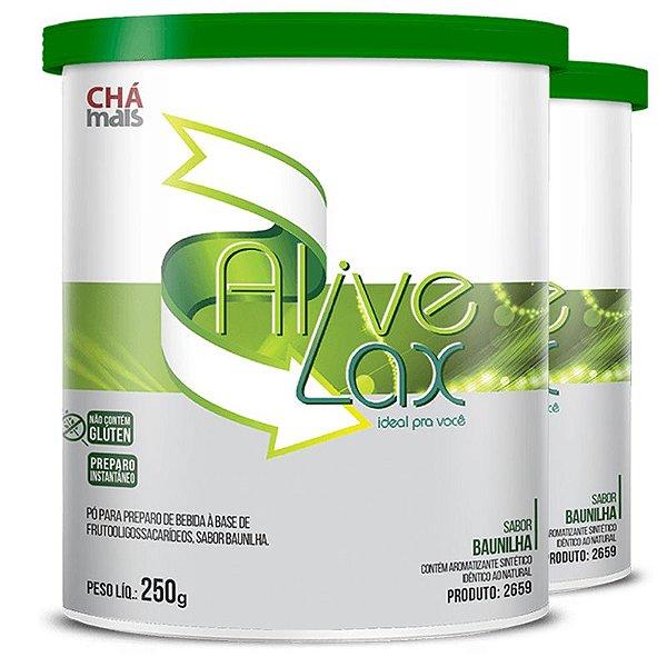 Kit 2 Alive Lax laxante natural a base de fibras Chá mais 250g