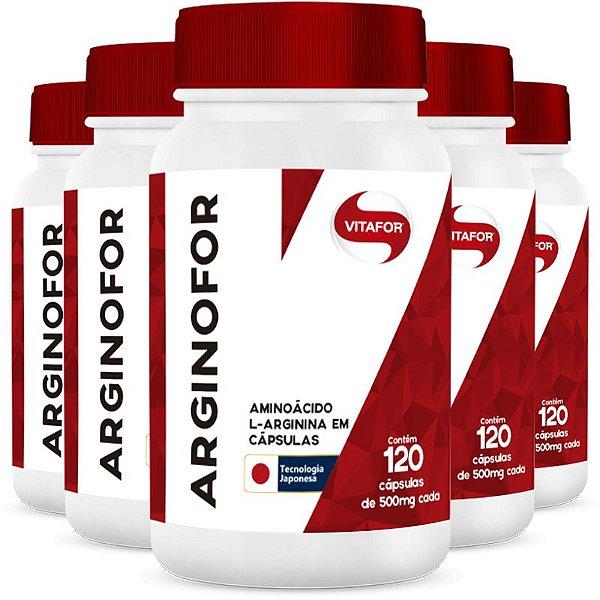 Kit com 5 Arginina Arginofor de 120 Cápsulas da Vitafor
