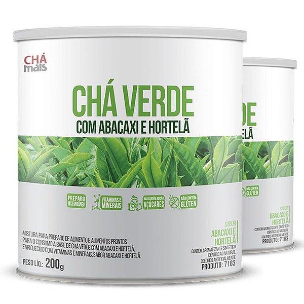 Kit 2 Chá Verde com Abacaxi e Hortelã 200g Chá Mais