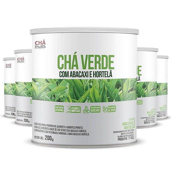 Kit 5 Chá Verde com Abacaxi e Hortelã 200g Chá Mais