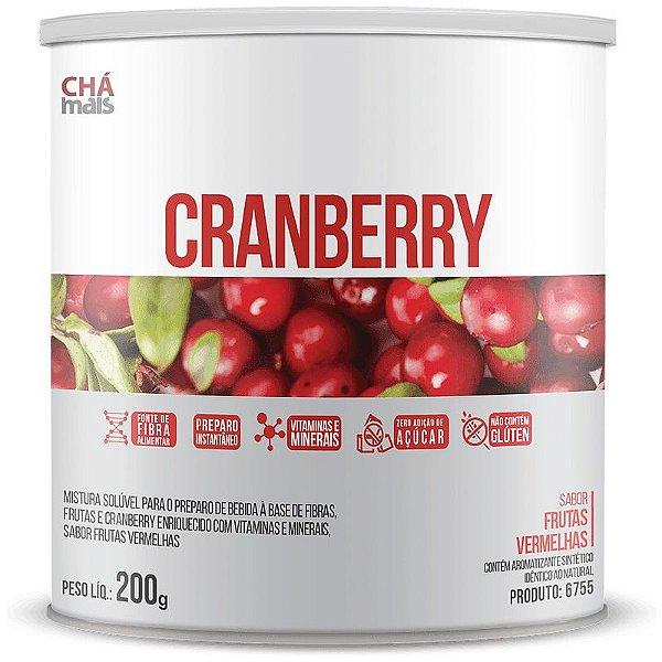 Cranberry Solúvel 200g da Chá Mais Sabor Frutas Vermelhas