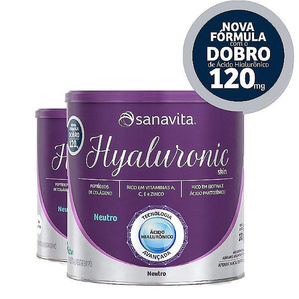 Kit 2 Hyaluronic ácido hialurônico Skin da Sanavita com 270g